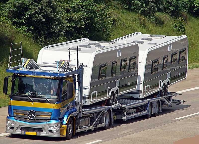transporte de caravana por camión fácil barato Leadmee